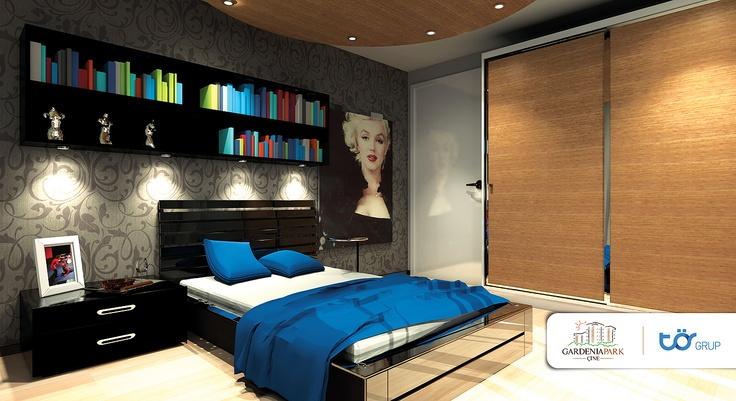 torgrup gardenia park konutları kurumsal iç mekan tasarım. ebeveyn yatak odası iç mekan tasarımı.