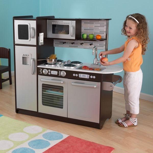 Kidkraft Kitchen Play Pretend Kids Set Toddler Children Wood Food Toy Uptown
