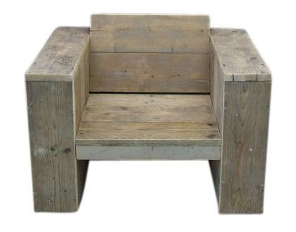 Doe-Het-Zelf bouwpakket loungestoel van oud of nieuw steigerhout voorraad artikel (7120161226)