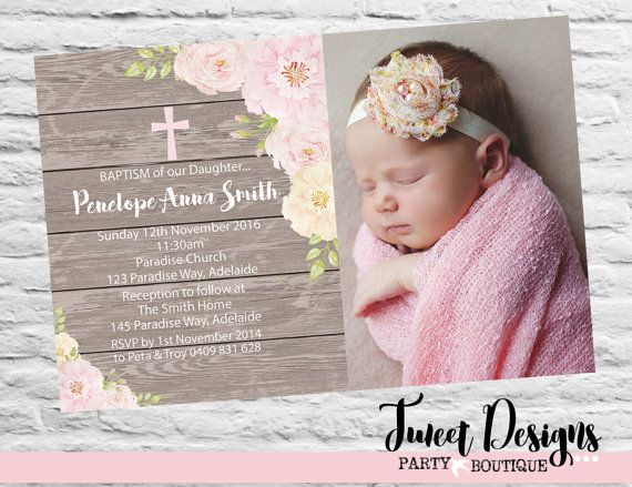 CHRISTENING INVITATION GIRL, Baptism Printable Invitation, Naming Day, Girl Christening Invitations, Floral Christening Invitation, Floral