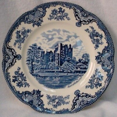 JOHNSON BROTHERS china OLD BRITAIN CASTLES Blue England DINNER PLATE