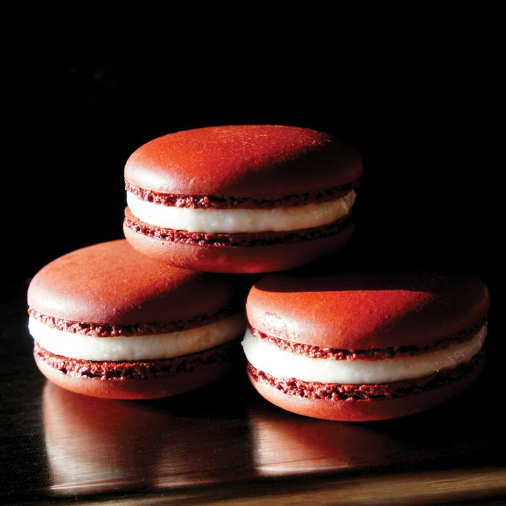 Introducing our luscious Red Velvet Macarons! Available in our cafes 'til the end of February. Perfect for your Valentine sweetheart... And, your sweet tooth! #macaron #ValentinesDay