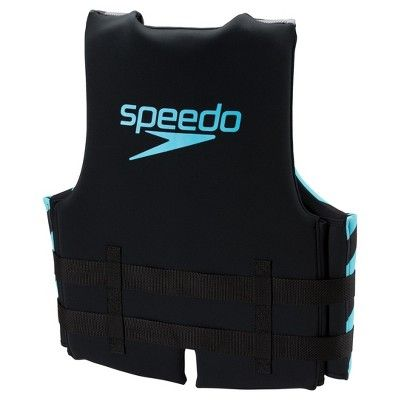 Speedo Adult Neoprene Lifejacket - Black/Blue (Extra Large/Double XL)