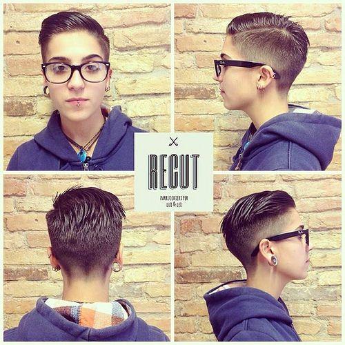 151 best Hair androgynous lesbian Dyke haircuts pixie hair Short hair Woman