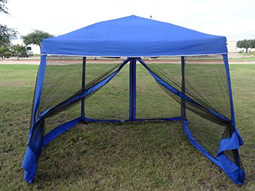 8'x8'/10'x10' Pop up Canopy Party Tent Gazebo Ez with Net (Blue) * CHECK OUT ADDITIONAL INFO @: http://www.best-outdoorgear.com/8x810x10-pop-up-canopy-party-tent-gazebo-ez-with-net-blue/
