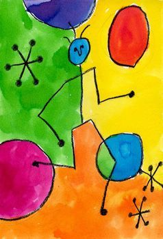 Learn about Joan Miro with this art lesson from Art Projects For Kids.
