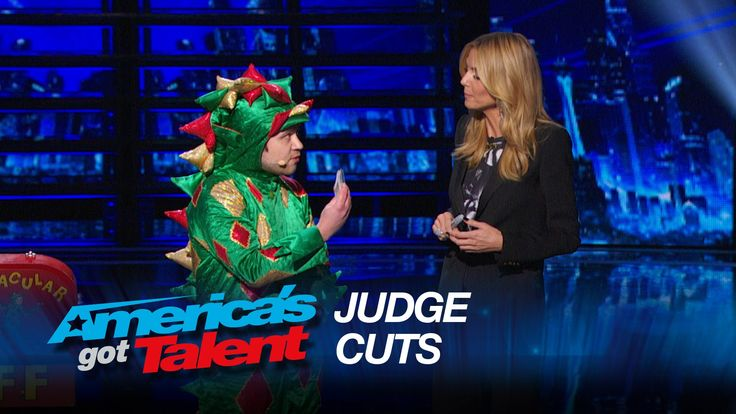 Piff the Magic Dragon: Comedic Magician Kisses Heidi Klum - America's Go...