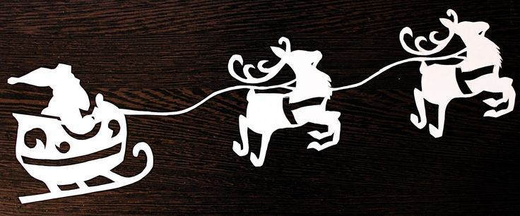 новогодние трафареты на окна дед мороз и олени: 19 тыс изображений найдено в Яндекс.Картинках