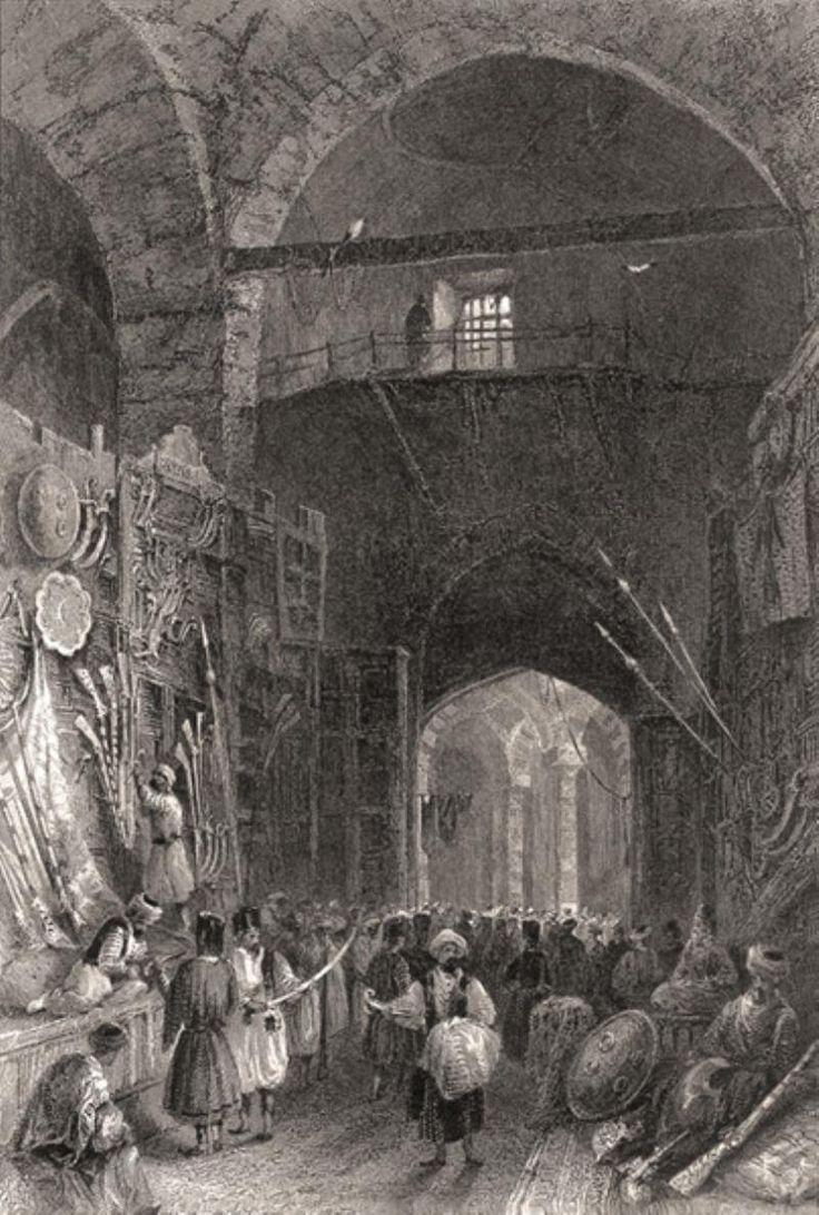 William Henry BARTLETT / Beyazid Kapalı Çarşı Silah Pazarı ( Grand Bazaar )