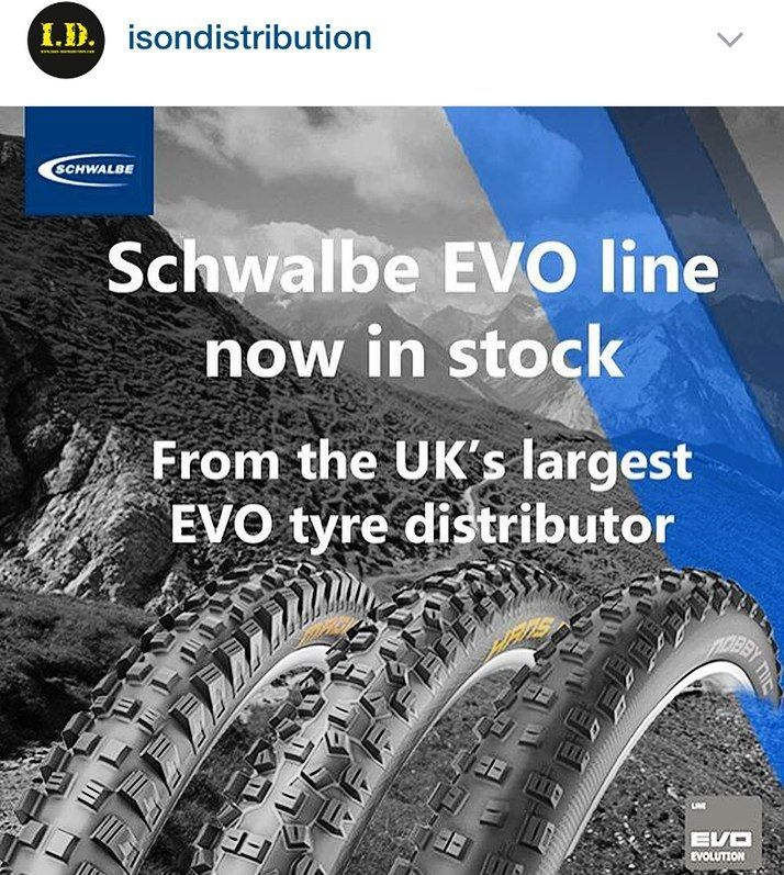 Better believe!! @schwalbetires available from @isondistribution the largest EVO tyre distributor in the UK! #schwalbe #mtb #tyres #evo #trail #enduro #xc #downhill #cycling #isondistribution by dunkcyclist
