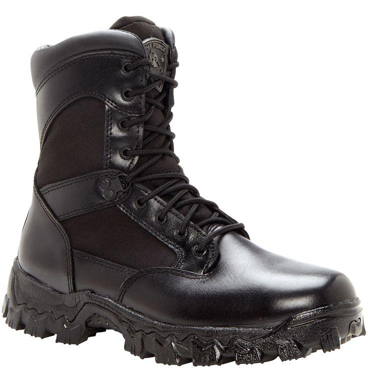 2165 Men's AlphaForce WP SR Uniform Rocky Boots - Black
