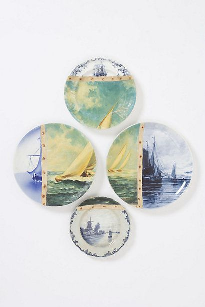 Yachting Plate Collage - too expensive to own, so I'll just have to go to a paint-your-pottery place and recreate it!