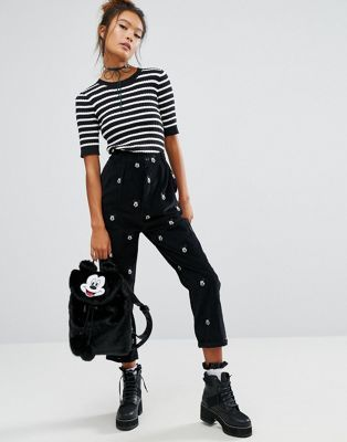 Lazy Oaf X Disney Mickey Mouse Corduroy Trousers at asos.com | @giftryapp
