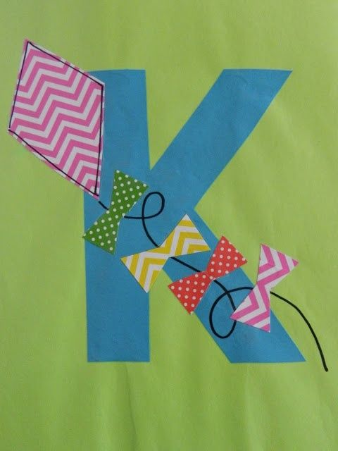 K is for kite - the vintage umbrella: Preschool Alphabet Projects... Letters I-P