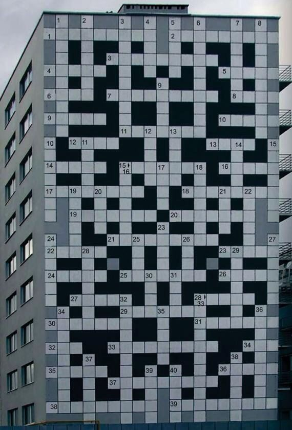The world's street artists-puzzle building