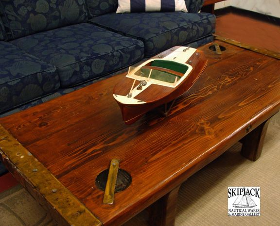 Vintage Coffee Table Produced In The Late 1970 S Using An Authentic Wwii Era Hatch Cover Salvaged From Us Nav Nautical Furniture And Furnishings