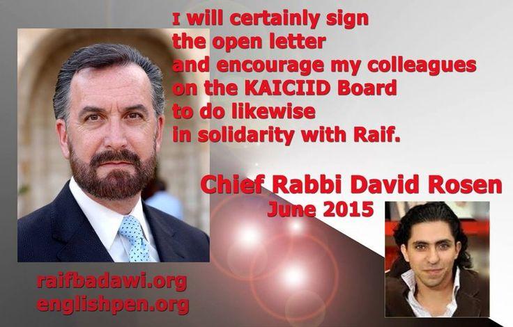 Chief Rabbi David Rosen on Raif Badawi