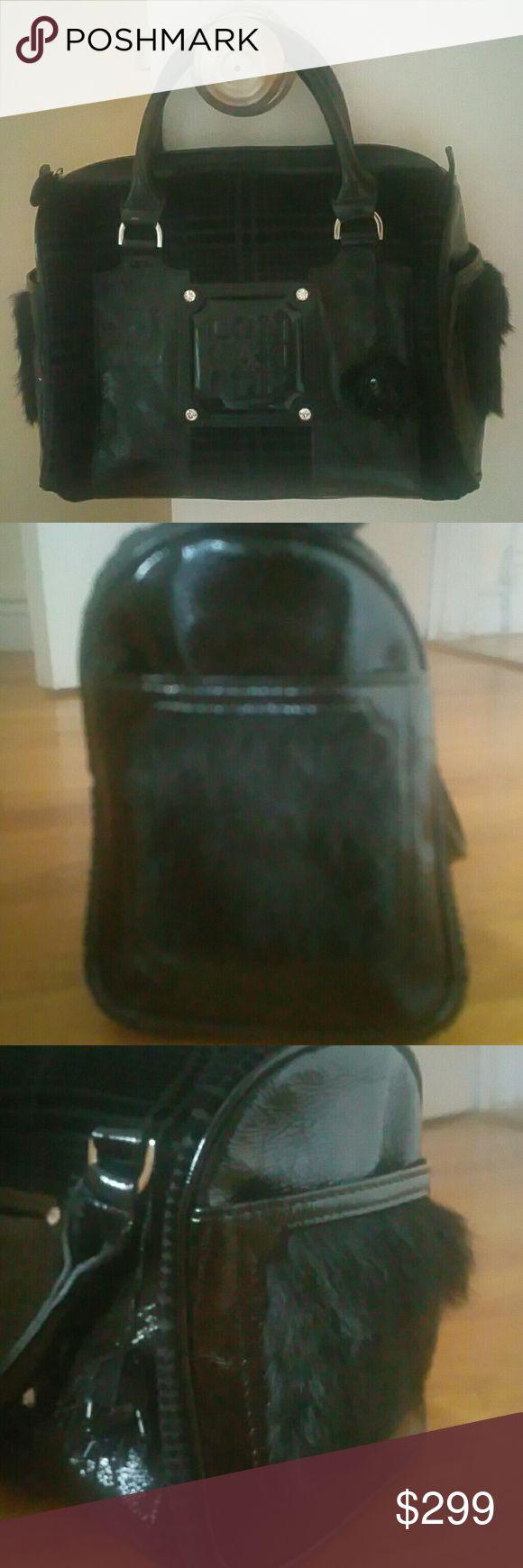 Authentic Long Champ Velvet / Fur Carry On Handbag Inside clean with dustbag long champ Bags Mini Bags