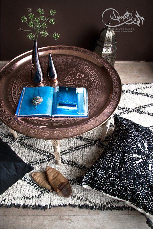 Marokko - woonaccessoires - koper - dienblad - orientaals