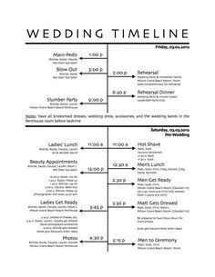 Your wedding day timeline is one of THE most important parts of planning. This guide can help! http://www.womangettingmarried.com/create-wedding-reception-timeline/