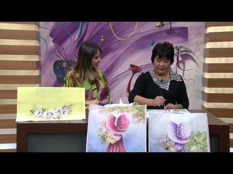 Mulher.com 28/08/2014 - Pintura Estamparia Tecido por Julia Passerani - Parte 2 - YouTube