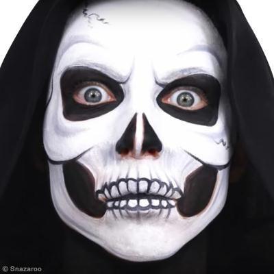 Maquillage facile Tête de mort Halloween (DIY vidéo)