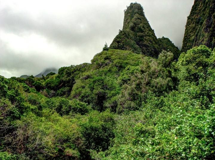 Spire in Iao Valley, Maui.  Photo by Tim Falkenberg