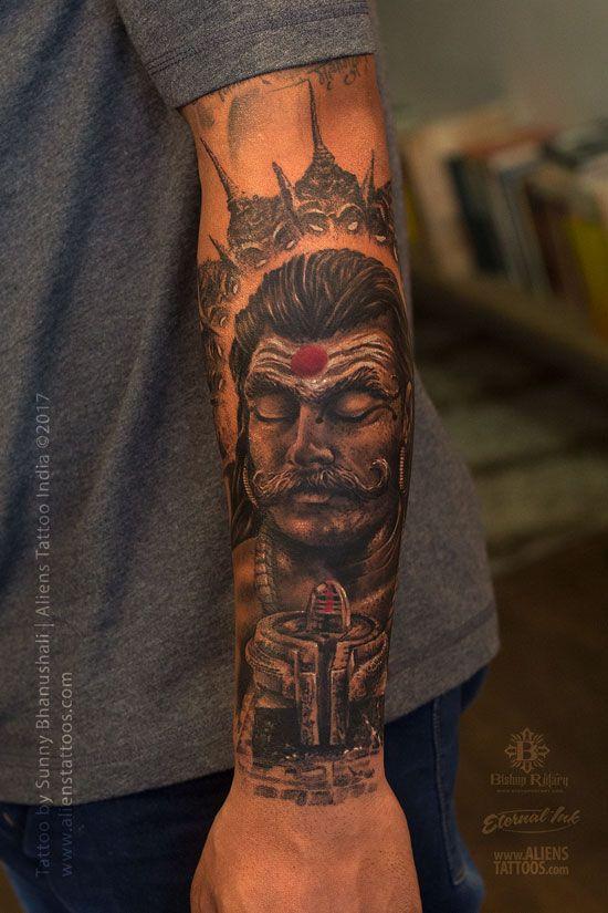 Ravana Tattoo Lord Shiva Tattoo Collection By Aliens Tattoo