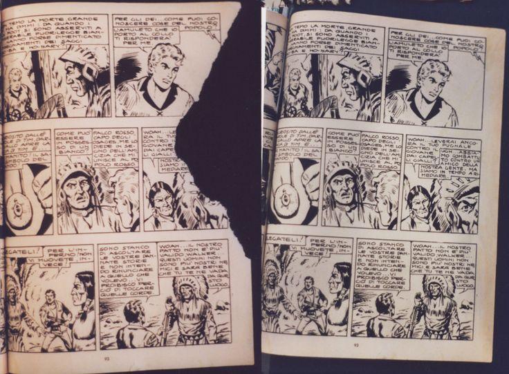 RESTAURO Restauro pagina interna fumetto www.atelierdangelone.it