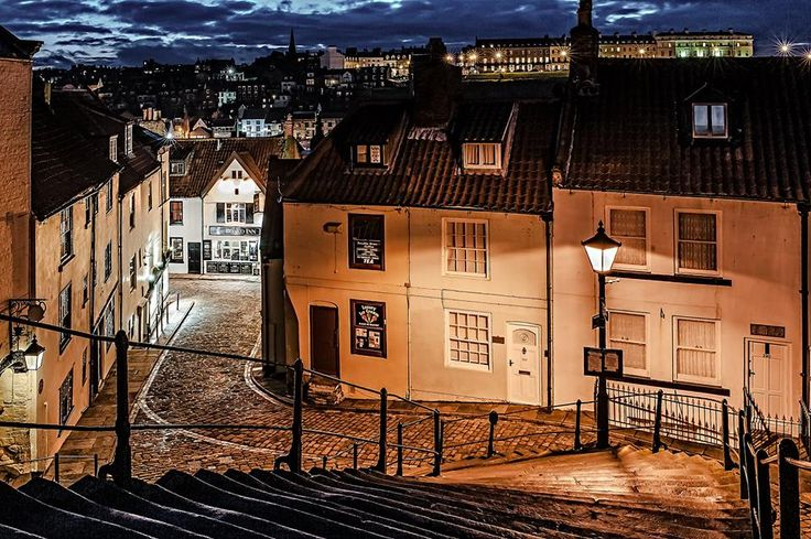 Whitby, the steps where Dracula came ashore as a dog!