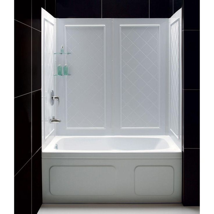DreamLine QWALL Tub 28 32 in  D x 56 to 60 in. 7 best images about fiberglass shower units on Pinterest   One