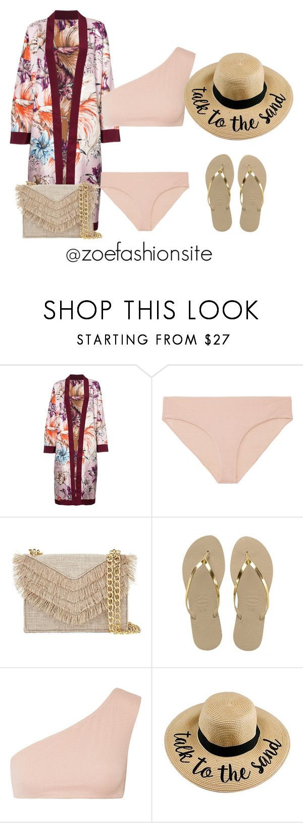 """""""Untitled #502"""" by zoefashionsite on Polyvore featuring FAUSTO PUGLISI, CALi DREAMiNG, Cynthia Rowley and Havaianas"""