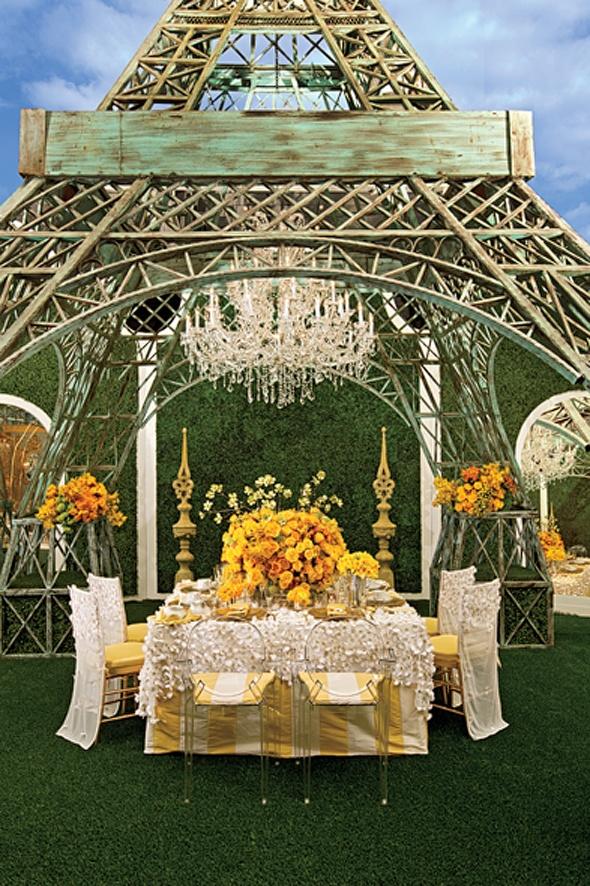 Dinner under the Eiffel Tower