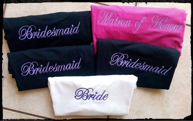 Bride and bridal party t-shirts