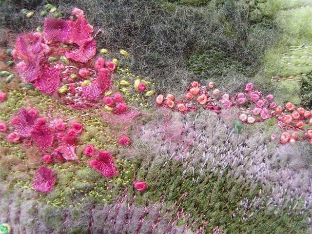 Castle Bolton Gardens Embroidered Felt Picture by MarmaladeRose, via Flickr