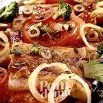 Grillowany mintaj z warzywami