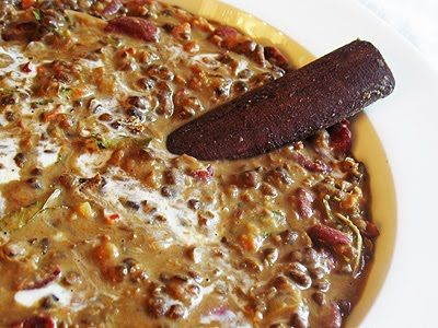 Dal Makhani (Black Gram and Kidney Bean Curry) -- classic Punjabi curry, warm, creamy and spicy