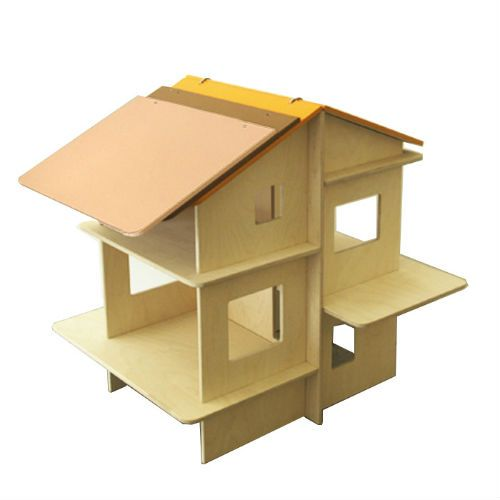 a collection of non-traditional and modern dollhouses