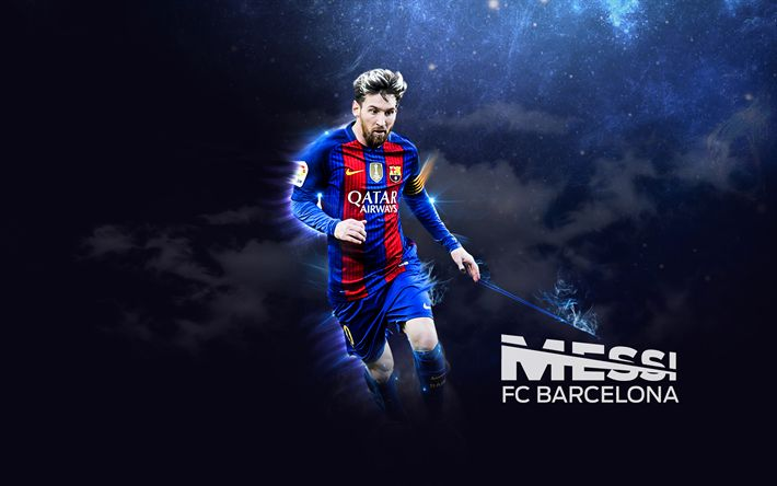 Download wallpapers Lionel Messi, Barca, Messi, FC Barcelona, footballers, FCB, art, football stars, Leo Messi