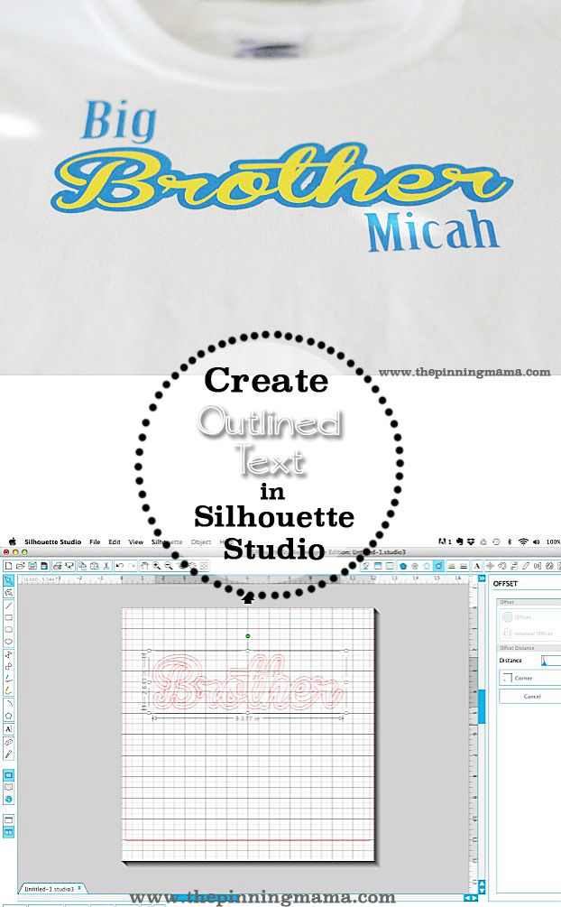 Silhouette Studio Offset Feature: How to get the outlined look on text for layering projects with your Silhouette CAMEO or Portrait