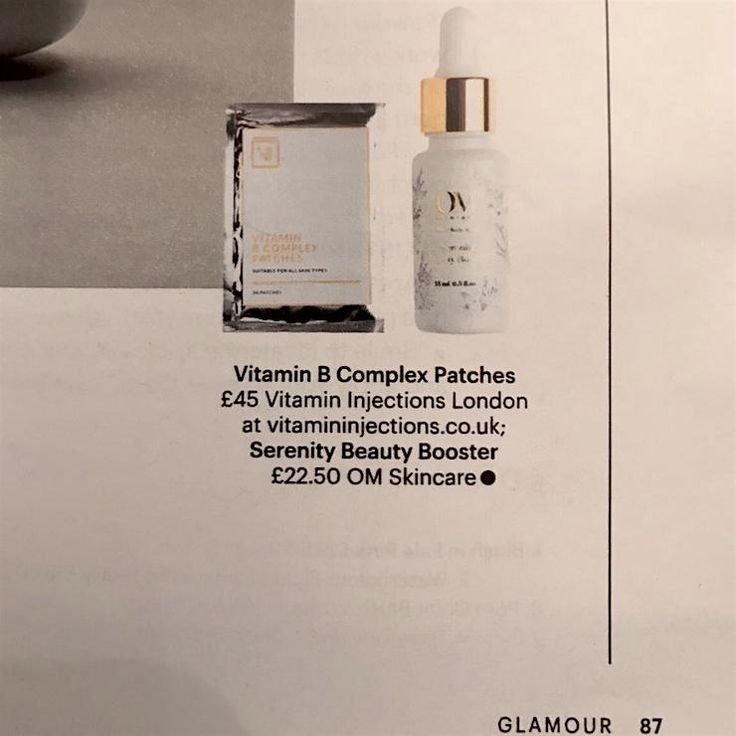 Our Vitamin Skin Patches (B Complex) have been featured in the February 2017 edition of Glamour Magazine. Shop online at vitamininjections.co.uk/shop.