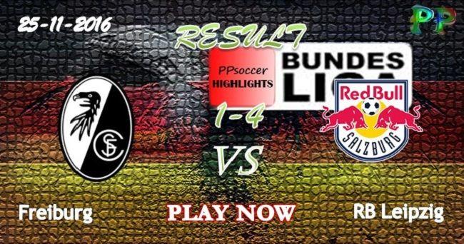 SC Freiburg 1 - 4 RB Leipzig 25.11.2016 HIGHLIGHTS - PPsoccer
