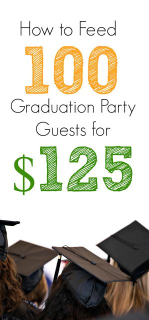 Get the menu for 100 that we used with our daughter's graduation party The food was less than $125 and worked perfectly for a budget! Very cheap and delicious!