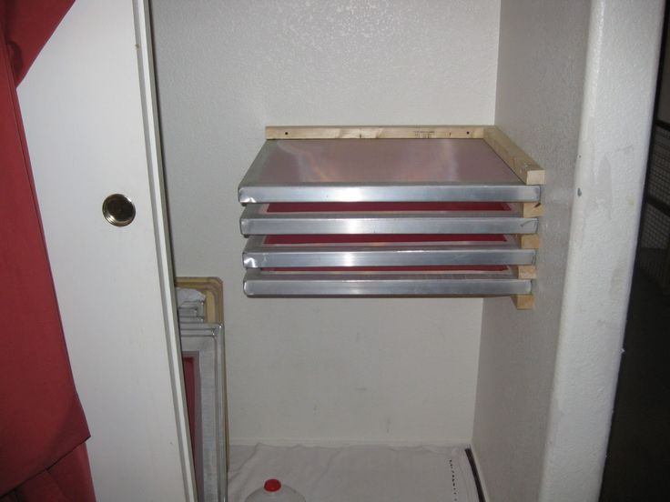 Homemade Screen Drying Cabinet Plans ~ Best images about awesome screen printing diy projects