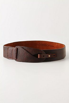 Love a good belt. Anthropologie A copie absolument! peut-être un peu plus large...