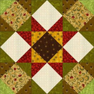 Make Kansas Star, a quilt block pattern that's also called Eight Points Allover. My quilt block pattern explains how to design a unique layout.