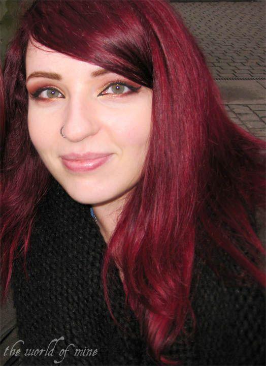 Schwarze haare farben mit directions