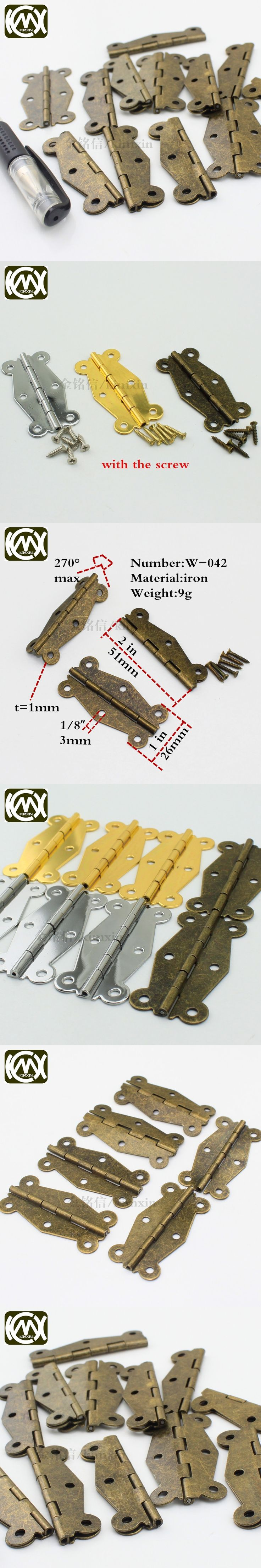 22pc 26*51mm In stock sales iron plum blossom plane hinge,Antique jewelry box hinges ,Furniture hardware and kitchen accessories