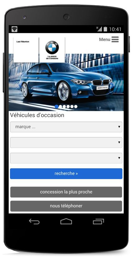 Mobile web site for BWM in Reunion (m.bmw.re) deployed by the Mobileweb Company.
