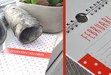 Kleurrijke verjaardagskalender van HavetoHave. Het formaat is 130 x 297 mm en wordt geleverd op stevig papier met een stevig ophangsysteem. http://www.havetohave.nl/Verjaardagskalender-rood-wit-stippen